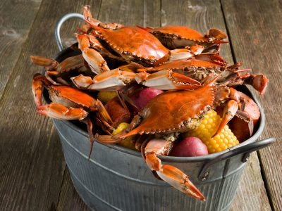 Rouses seafood boiled crabs with corn