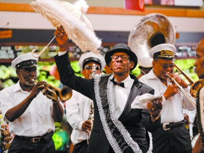 Treme brass band performs at Rouses Carrolton store in New Orleans