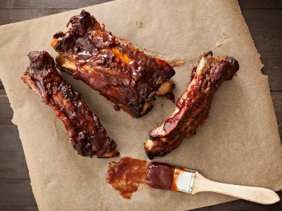 Barbecue ribs with sauce, BBQ