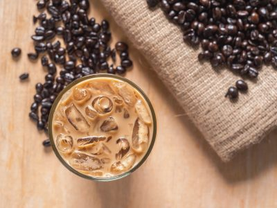iced coffee with beans