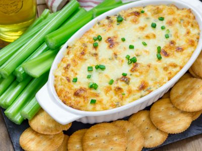 baked crab dip with melted cheese