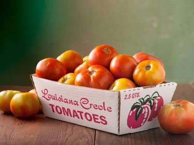 ripe Louisiana creole tomatoes