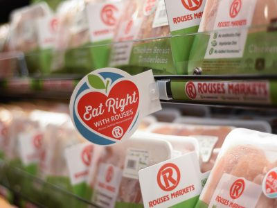 eat right with Rouses shelf talker