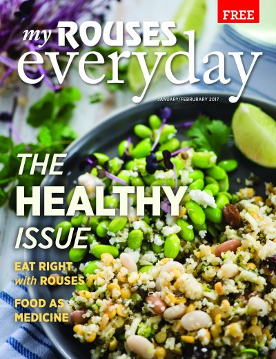 Eat Right cover of Rouses Magazine January and February 2017