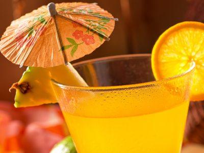 Mai Tai cocktail with umbrella