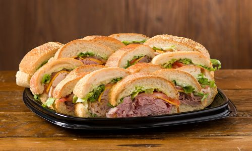 Rouses deli po-boy tray, catering