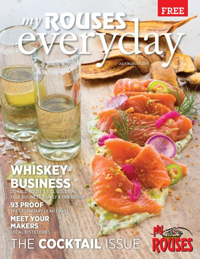 tequila and salmon cover of July and August Rouses Magazine
