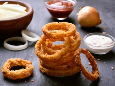 baked onion rings, eat right with Rouses
