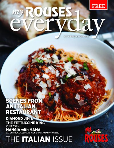 spaghetti and meatball Italian cover of September and October Rouses Magazine
