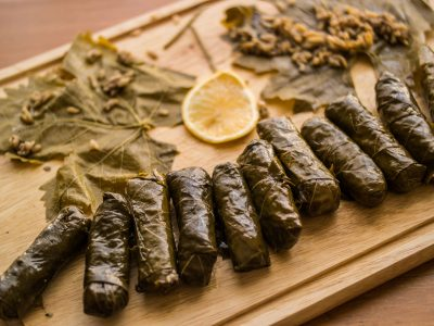stuffed grape leaves from the Bouille Babes