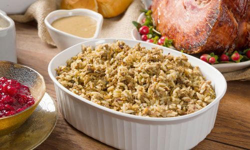 Rouses deli rice dressing catering holidays