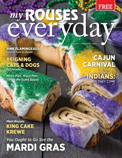 cover of January and February 2018 Rouses Magazine, Mardi Gras