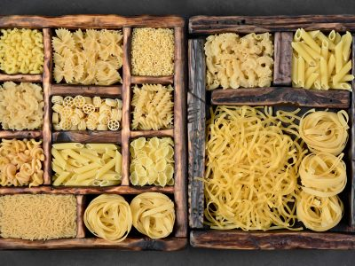 dried pasta various kinds