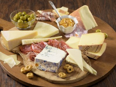 cheeseboard with Rouses Italian cheese and meat