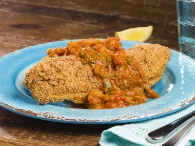rouses fried catfish with etouffe