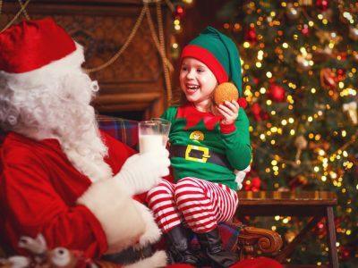Santa & Kid
